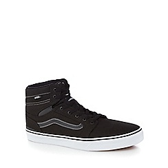 Vans - Black canvas 'Sanction' high top trainers