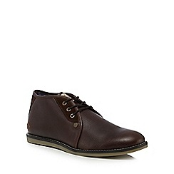 Original Penguin - Brown leather 'Legal' chukka boots