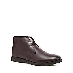 Original Penguin - Dark red leather 'Lexington' chukka boots