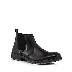 Rieker - Black leather Chelsea boots