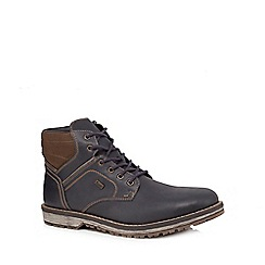 Rieker - Tan leather lace-up boots