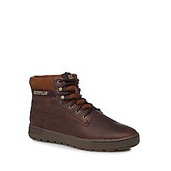 Caterpillar - Brown leather 'Ryker' lace-up boots