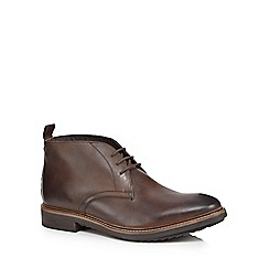 Base London - Dark brown leather 'Cavill' chukka boots