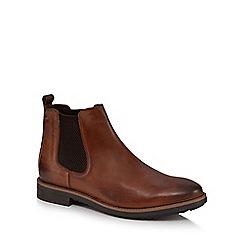 Base London - Tan leather 'Dalton' Chelsea boots