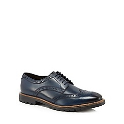 Base London - Navy leather 'Trench' brogues