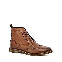 Base London - Tan 'Hurst' brogue boots