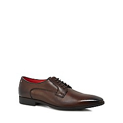 Base London - Brown leather 'Penny' Derby shoes