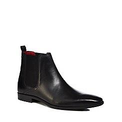 Base London - Black leather 'Guinea' Chelsea boots