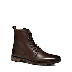 Ben Sherman - Brown leather 'Earl' lace up boots