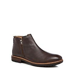 Ben Sherman - Dark brown leather 'Jake' Chelsea boots