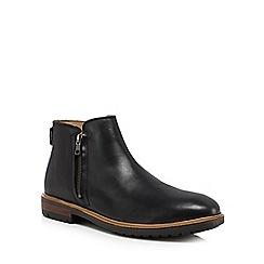 Ben Sherman - Black leather 'Jake' Chelsea boots