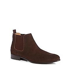 Ben Sherman - Brown suede Chelsea boots