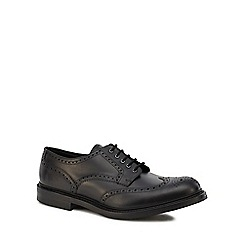 Loake - Black leather 'Worton' Goodyear welted sole brogues