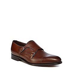 Loake - Tan leather 'Canon' monk strap shoes