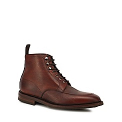 Loake - Brown leather 'Anglesey' Goodyear welted sole lace up boots