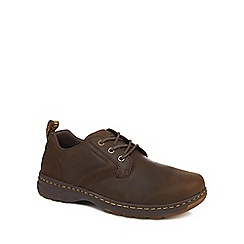 Dr Martens - Dark brown leather 'Glimer' lace up shoes
