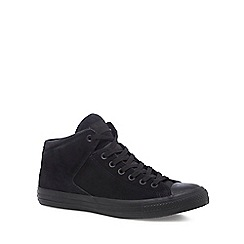 Converse - Black suede 'Chuck Taylor All Star' hi-top trainers