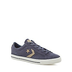 Converse - Navy suede 'Star Player' lace up trainers