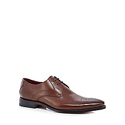 Loake - Brown leather 'Powers' Goodyear welted sole Oxford shoes