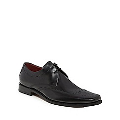 Loake - Black leather 'Bryant' Goodyear welted sole brogues