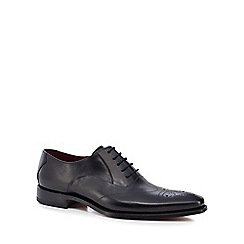Loake - Black leather 'Gunny' Goodyear welted sole Oxford shoes
