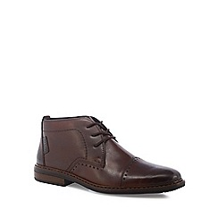 Rieker - Brown leather chukka boots