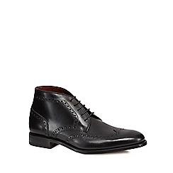 Loake - Black leather 'Harrington' brogue boots