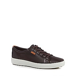 ECCO - Dark brown leather 'Soft 7' trainers