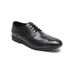 Rockport - Black style connected wingtip shoes