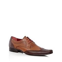 Red Tape - Brown leather contrast panel brogues