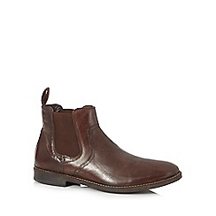 Red Tape - Brown leather chelsea boots