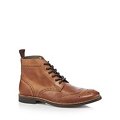 Red Tape - Brown leather brogue boots