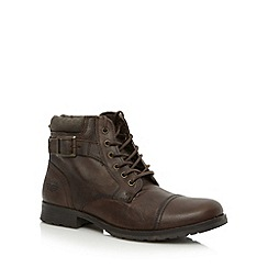 Red Tape - Brown leather lace up boots