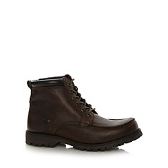 Red Tape - Brown leather apron front boots