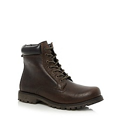 Red Tape - Brown 'Marsland' hi top work boots