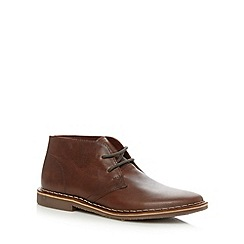 Red Tape - Tan leather chukka boots
