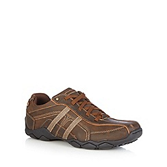 Skechers - Dark brown 'Diameter Û Murilo' leather trainers