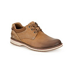 Clarks - Tan Leather Mahale Plain Shoes