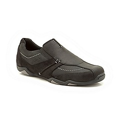 Clarks - Rawson Line Black Nubuck Casual Slip On Shoe