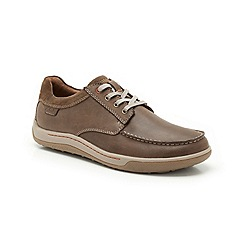 Clarks - Reeder Place Tobacco Nubuck Lace Up Casual Shoe