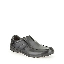 Clarks - Bradley Fall Black Leather Smart Slip on Shoe