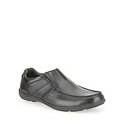 Clarks - Bradley Fall Black Leather Smart Slip on Shoe