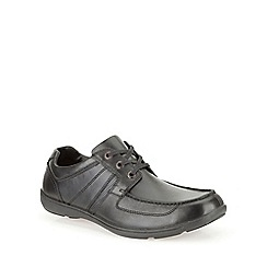 Clarks - Bradley Star Black Leather Smart Lace Up Shoe