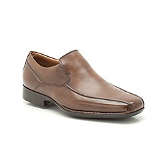 Clarks - Francis Flight Tan Leather Slip On Shoe