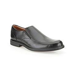 Clarks - Gabson Step Black Leather Smart Slip on Shoe