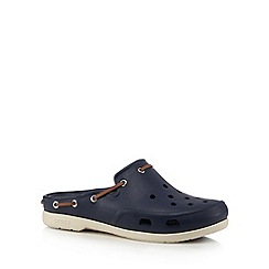 Crocs - Navy beach slip ons