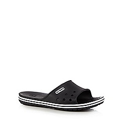 Crocs - Black logo band flip flops