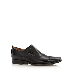 Jeff Banks - Designer black leather side lace up shoes
