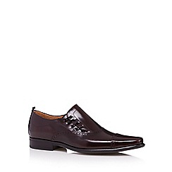 Jeff Banks - Designer plum leather side lace up shoes