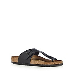Birkenstock - Black classic leather buckle sandals